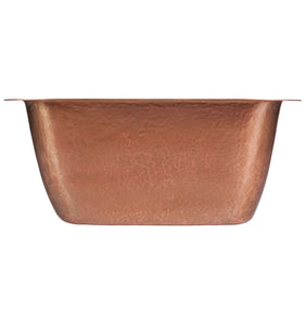 "Tamayo 15-5/8"" x15-5/8"" Copper Bar Sink"