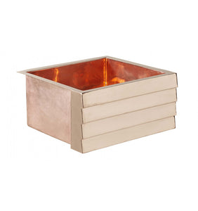 "Kahlo 17"" x 15 Tiered Rose Gold Kitchen Sink"