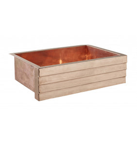 "Kahlo 33"" x 22"" Tiered Rose Gold Kitchen Sink"