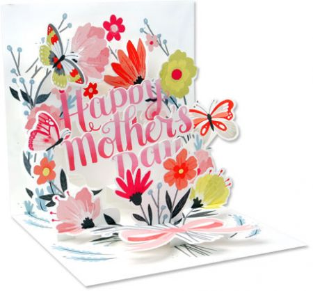 Springtime Bouquet Mother's Day Pop-Up Card