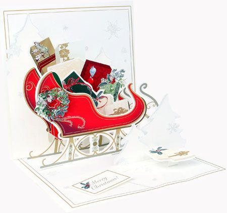 Elegant Sleigh Pop-Up Card