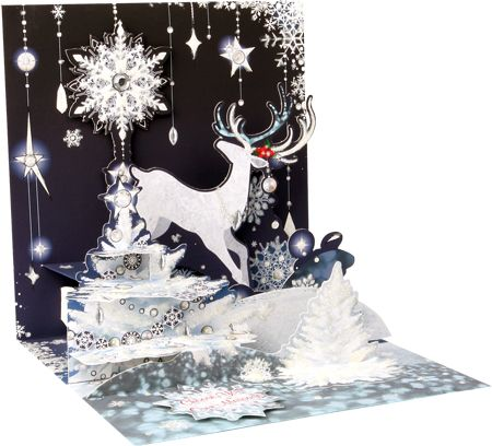 Reindeer Holiday Pop-Up Card