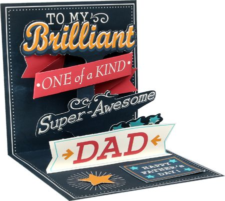 Brilliant Dad Pop-Up Card