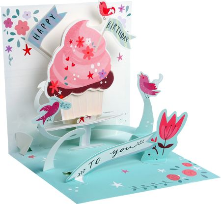 Yummy Cupcake Birthday Pop-Up Card