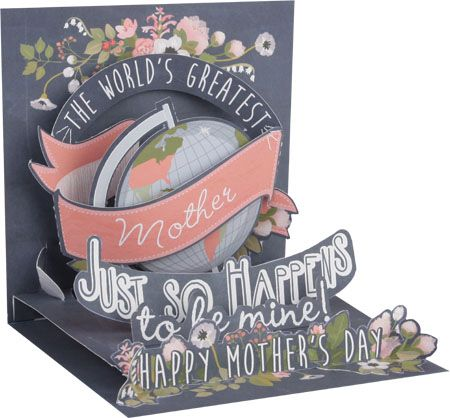 World's Greatest Mom Mother's Day Pop-Up Card