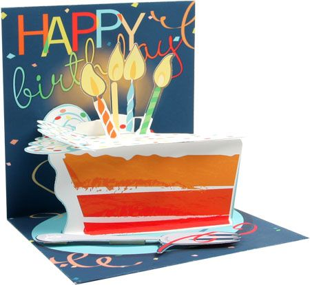 Big Slice of Cake Birthday Pop-Up Card