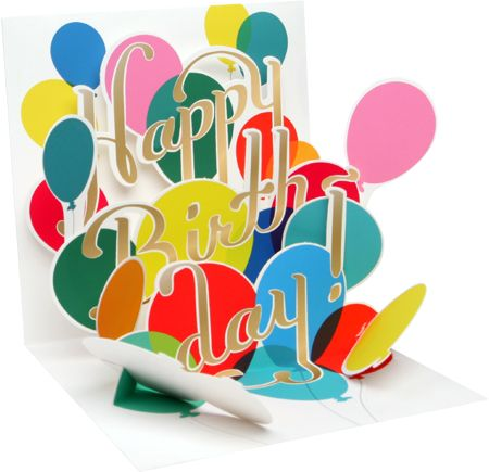Balloon Bouquet Birthday Pop-Up Card