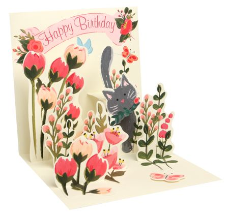 Botanical Cat Pop-Up Card