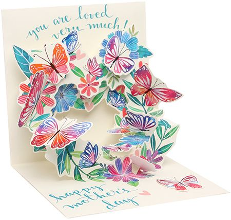 Butterfly Wreath Mother's Day Pop-Up Card