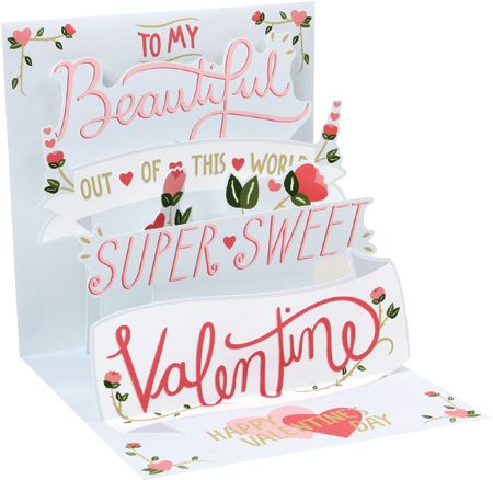 Valentine Hearts Pop-Up Card
