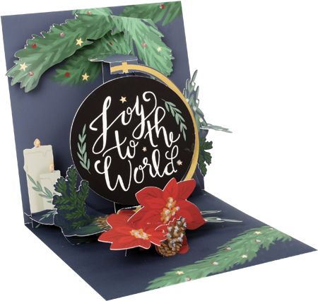 Joy to the World Pop-Up Card