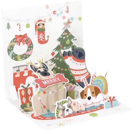 Christmas Dogs Pop-Up Card