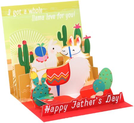 Papa Llama - Father's Day Pop-Up Card