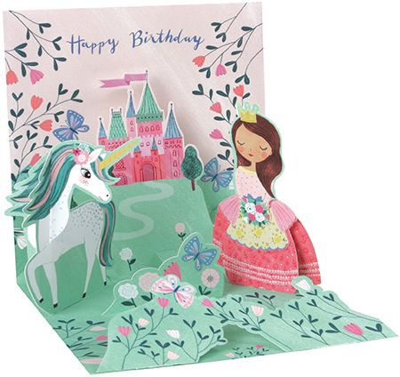 Princess & Unicorn Pop-Up Card