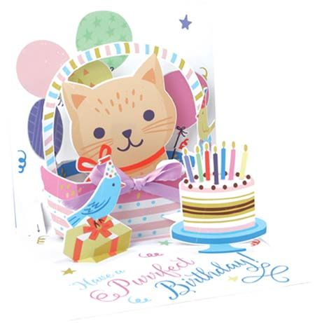 Kitten in Basket Pop-Up Card