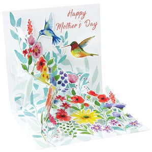 Hummingbirds Mother's Day Pop-Up Card
