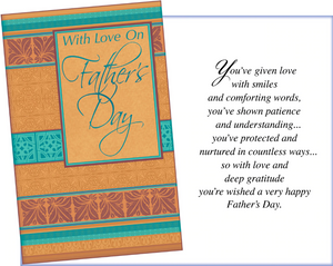 With Love on Father's Day Card