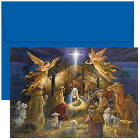 A Holy Scene Christmas Card