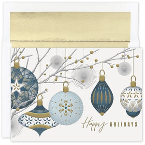 Silver & Gold Baubles - Holiday Card