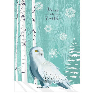 Snowy Owl Holiday Card