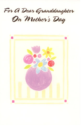 For Granddaughter on Mother's Day Card