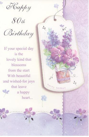 80th Birthday Card