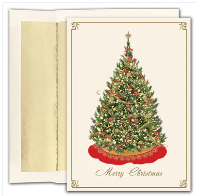 Elegant Tree Merry Christmas Card