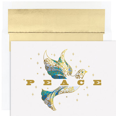 Elegant Dove Holiday Card