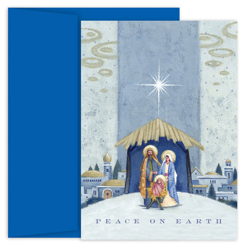 Nativity Beneath The Star Christmas Card