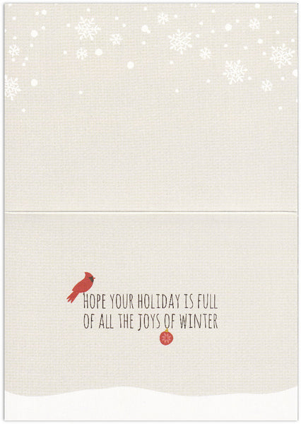 Snow Friends Laughter & Joy - Holiday Card