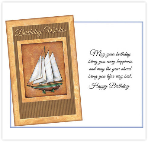 Ship Birthday Card