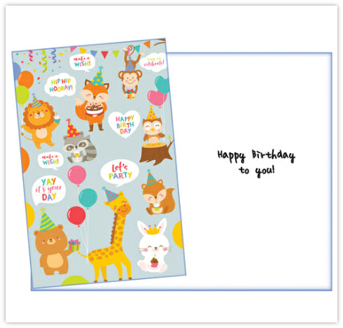 Cute Animals Birthday Card