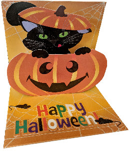 Pumpkin Cat Halloween Pop-Up Card