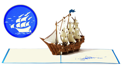 Sailing Ship Pop-Up Card