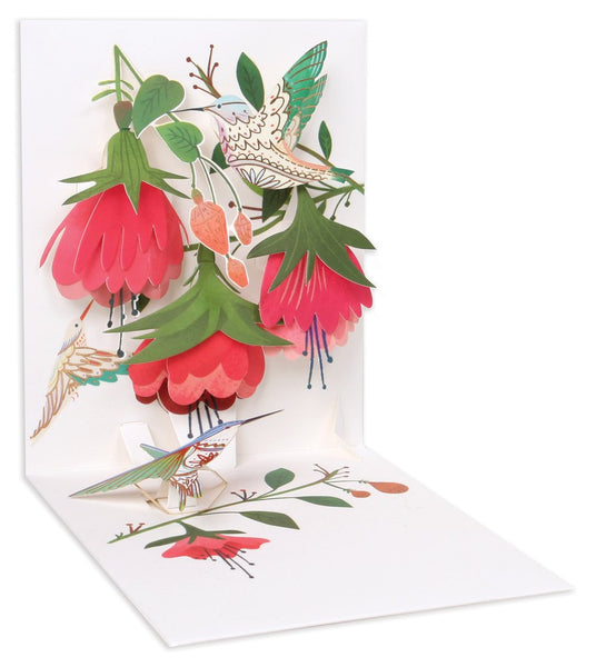 Hummingbird Birthday Pop-Up Card