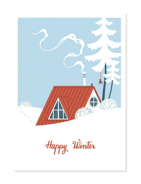 Winter Cabin Pop-Up Card