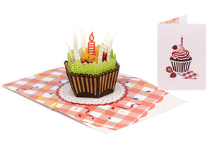 Birthday Cupcake Pop-Up Card
