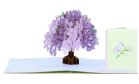 Floral Jacaranda Tree Pop-Up Card