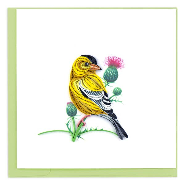 American Goldfinch Quilling Card