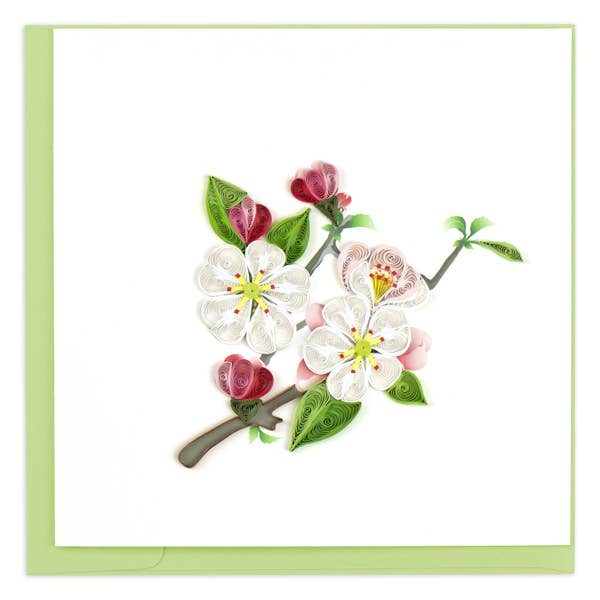 Apple Blossom Quilling Card