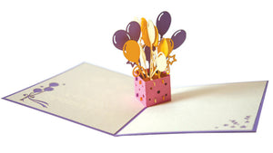 Birthday Balloons Pop-Up Card