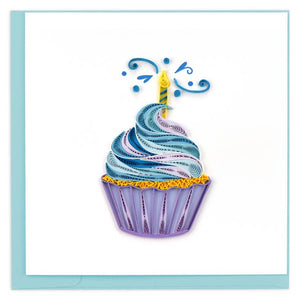 Cupcake and Candle Quilling Card
