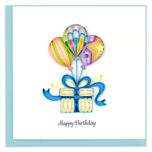 Balloon Surprise Birthday Quilling Card