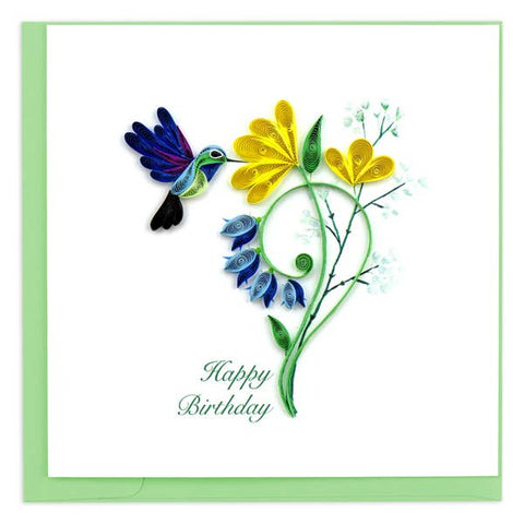 Birthday Hummingbird Quilling Card