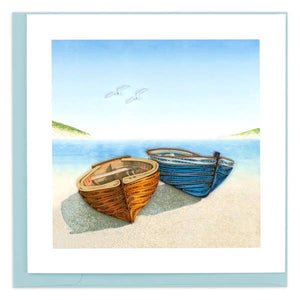 Boats on Beach Quilling Card