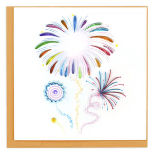 Fireworks Quilling Card