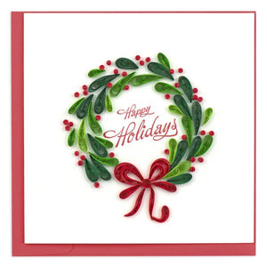 Holiday Wreath Quilling Card