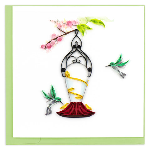 Hummingbird Feeder Quilling Card