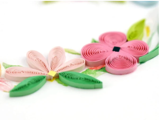 Floral Heart Wreath Quilling Card