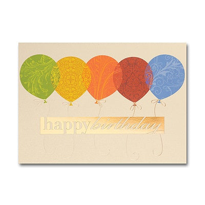 Balloons Happy Birthday Card